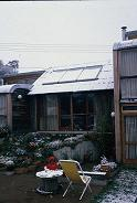 Solar hot water in snow